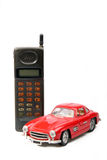 Teléfono móvil de la vieja simulación. Foto de archivo libre de regalías