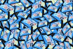 Teléfono móvil de los medios del logotipo social del app ilustración del vector