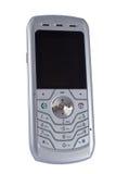 Teléfono móvil de plata aislado imágenes de archivo libres de regalías