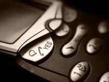 Teléfono móvil del asunto Imágenes de archivo libres de regalías