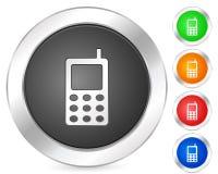 Teléfono móvil del icono del ordenador stock de ilustración