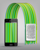 Teléfono móvil del infographics moderno Foto de archivo libre de regalías