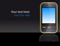 Teléfono móvil del vector brillante Fotografía de archivo libre de regalías