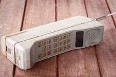 Teléfono móvil del vintage Fotografía de archivo libre de regalías
