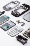 Teléfono móvil desmontado imagen de archivo