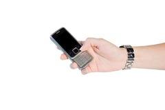 Teléfono móvil a disposición Fotos de archivo libres de regalías