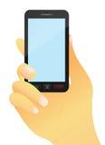 Teléfono móvil a disposición Imágenes de archivo libres de regalías