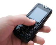 Teléfono móvil a disposición Imagen de archivo