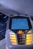 Teléfono móvil iluminado Imagen de archivo libre de regalías