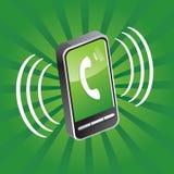 Teléfono móvil llamada Foto de archivo