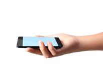 Teléfono móvil moderno a disposición Fotos de archivo