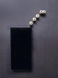 Teléfono móvil negro Foto de archivo