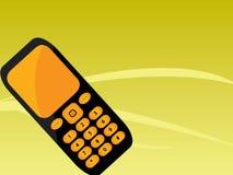 Teléfono móvil negro anaranjado Imagen de archivo