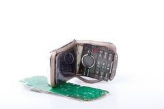 Teléfono móvil quebrado Foto de archivo libre de regalías