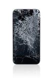 Teléfono móvil quebrado Imágenes de archivo libres de regalías