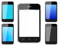Teléfono móvil realista de Smartphone con colores alternos