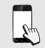 Teléfono móvil realista del diseño abstracto con el espacio en blanco Imagen de archivo libre de regalías
