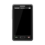 Teléfono móvil realista negro Imágenes de archivo libres de regalías