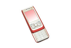 Teléfono móvil rojo fotos de archivo
