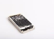 Teléfono móvil roto Fotografía de archivo