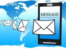 Teléfono móvil y mensaje Fotografía de archivo libre de regalías
