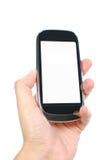Teléfono móvil y pantalla en blanco Fotos de archivo libres de regalías