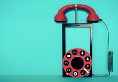 Teléfono móvil y sus características Imagen de archivo