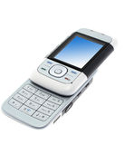 Teléfono moderno aislado Foto de archivo libre de regalías