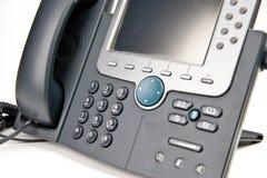Teléfono multilínea de la oficina Imágenes de archivo libres de regalías