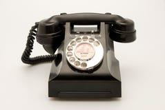 Teléfono negro Imagen de archivo libre de regalías