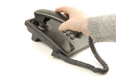 Teléfono negro Imagen de archivo