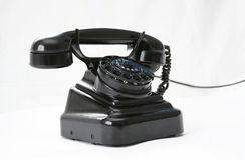 Teléfono negro Foto de archivo