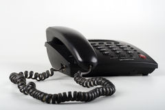 Teléfono negro aislado de la línea horizonte imagen de archivo libre de regalías