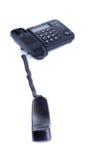 Teléfono negro con el tubo sacado Fotografía de archivo libre de regalías