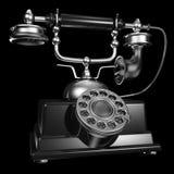 Teléfono negro de la vendimia Imagen de archivo