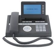 Teléfono negro moderno de la oficina de asunto Imágenes de archivo libres de regalías