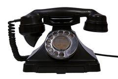 Teléfono negro retro Fotografía de archivo