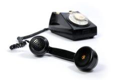 Teléfono negro viejo Fotografía de archivo libre de regalías