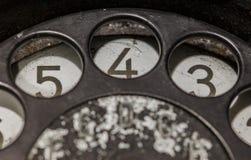 Teléfono negro viejo Fotos de archivo