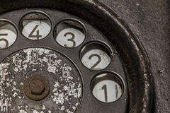 Teléfono negro viejo Imagen de archivo libre de regalías