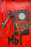 Teléfono público foto de archivo