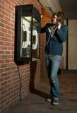 Teléfono público fotos de archivo