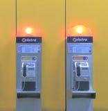 Teléfono público de Telstra Fotografía de archivo libre de regalías