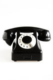 Teléfono pasado de moda negro Foto de archivo