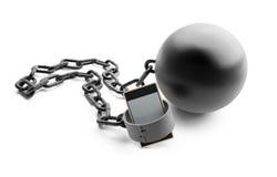 Teléfono peligroso de la dependencia Fotografía de archivo libre de regalías