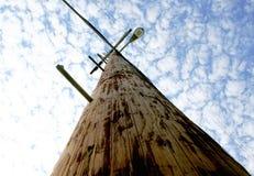 Teléfono poste de la luz de calle Fotografía de archivo