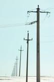 Teléfono postes Fotografía de archivo