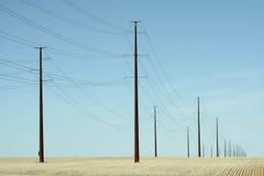 Teléfono postes foto de archivo