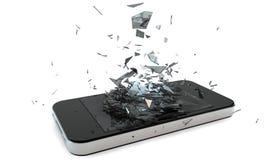 Teléfono quebrado Foto de archivo libre de regalías