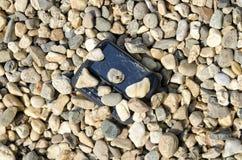 Teléfono quebrado imagenes de archivo